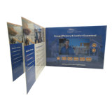 Cartolina d'auguri dell'affissione a cristalli liquidi dell'invito di promozione di 5 pollici video