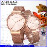 주문을 받아서 만드십시오 서비스 석영 형식 한 쌍 손목 시계 (Wy-057GA)를