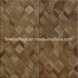 Suelo de madera del entarimado del arte del diseño del mosaico