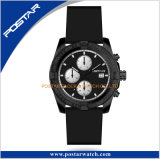 Montre en acier de Damas d'acier de damassé matérielle neuve de chronographe