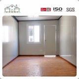 Una casa prefabricada prefabricada blanca más barata del edificio de la cabina del envase de los paneles de emparedado de la estructura de acero