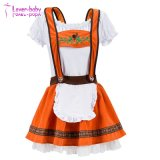 L'halloween 2017 Maid robe orange brûlé Mesdames Oktoberfest L1216