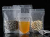 OEM Doypack Líquido transparente de Plástico Ziplock Alimentar Saco de embalagem