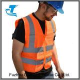 Gilet élevé de sûreté de visibilité avec le tissu de maille