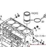 Fodera del cilindro per Tcd2013 (Volvo D7E)