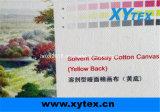 綿のキャンバスの黄色の背部デジタル支払能力がある光沢のある印刷330GSM 16s*16s