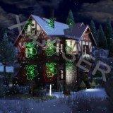 Éclairage en mouvement d'horizontal de Noël de lumières de Noël de projection de laser