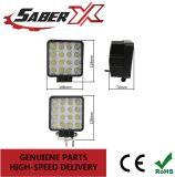 48W à prova de luz de trabalho LED quadrada de spot para caminhões fora de estrada Jeep ATV barco SUV