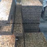Pulido de granito chino amarillo mosaico de la pared y piso