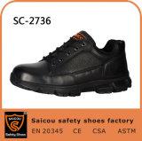 Últimas ligero negro Zapatos de seguridad con puntera de compuesto de suministros militares SC-2736