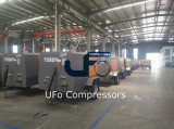 compressor van de Lucht van de Dieselmotor van 7m3/Min de Mijn Mobiele/Towable