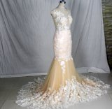 Мантии H147235 венчания Tulle шнурка платья венчания Шампань отвесные верхние