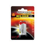batterie alkaline non rechargeable de cellule sèche de 9V Digitals pour l'alarme de fumée
