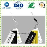 2017 Papier d'impression personnalisée pendre des balises pour des chaussettes et des sock Tags et étiquettes(JP-T009