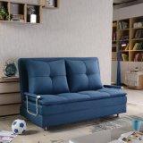 Горячая кровать софы створки сбывания 3 в голубом цвете