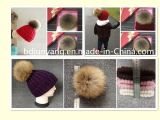 Милый шлем вязания крючком шерсти POM POM шлемов малышей Knit способа