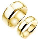 Diversos colores personalizados platearon el anillo de dedo brillante del acero inoxidable para los estudiantes