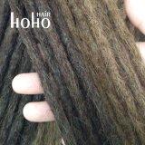 Capelli conclusi allentati Dreadlocks del Crochet di colore scuro di 16 pollici dei capelli umani