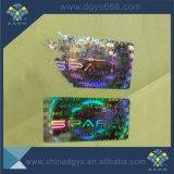 Holograma Tamper Evident adhesiva personalizada Etiqueta de láser para imprimir