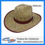 Sombrero de Sun del hombre de paja de Nutural de la hierba de la estera del sombrero