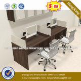 Estação de trabalho de madeira da mobília de escritório E1 divisória do escritório de 120 graus (HX-6M173)