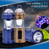 2018hot 판매 3color LED &6LED 태양 /DC 옥외 손전등