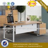 Prix bon marché MFC en bois couleur acajou table de direction (HX-8N3047)