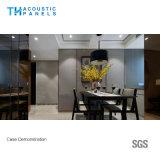 30mmのポリエステル線維のレストランのための装飾的な着せられた吸音力の壁パネル