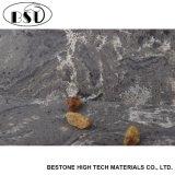 Brames artificielles de pierre de quartz de marbre gris de Faux