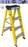 Nieuw Ontwerp 4 de Ladder van de Glasvezel van Stappen met de Stap van het Aluminium