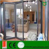Дверь алюминиевого профиля строительного материала Bi-Fold сделанная в Китае