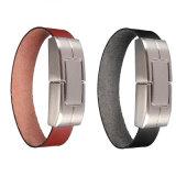 Azionamento dell'istantaneo del USB del cuoio del Wristband del bastone di memoria Flash U del braccialetto per i regali di affari