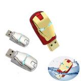 普及したデザインギフトの鉄の人USBのフラッシュ駆動機構USBの棒Pendrive