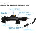 50mw de Groene Aanwijzer onder het vriespunt van de Laser Zoomable met 5mw het Gezicht Combo van de Laser van IRL