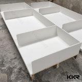Kkr a personnalisé le dessus en pierre de fabrication de vanité de salle de bains de quartz