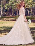 3/4 Rendas vestido de casamento ombro off Suite vestido de noiva H20175
