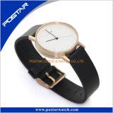Relógio de pulso feito sob encomenda da parte traseira da caixa de aço inoxidável do relógio da tendência nova