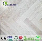 Pavimento di legno costruito reticolo di pietra grigio del parchè della quercia di stile della cenere