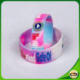 Bunter gewirbelter kundenspezifischer Firmenzeichen-SilikonWristband für Geschenk