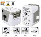 Adaptador de viaje con 4 puerto USB y Multi País tapones