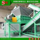 El eje de doble de los neumáticos usados Shredder de chatarra reciclaje de llantas