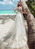 Кружевной устраивающих платье пляж страны Бич тюль свадьбы Gowns A41
