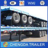 20ft 40ft Behälter-Transportvorrichtung-Flachbett-Sattelschlepper
