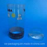 Новая напечатанная пластичная круглая коробка