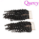 Estilo Livre Kinky Curl Virgem Brasileira Remy Hair Lace Encerramento (CL-025)