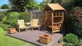 Certificat de SGS en plastique en bois Composite Decking WPC panneau de plancher de plein air