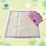 Da fralda descartável absorvente do tecido do bebê do Ce do FDA almofada de base em mudança