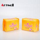 Serviettes hygiéniques menstruelles organiques femelles de garniture de coton de marque