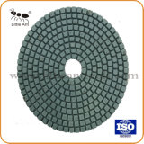 Flexible de 5 pouces Diamond Tampon à polir humide pour le Marbre