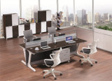 Het Vernisje Office&#160 van de Melamine van de combinatie; Het zettende Werkstation van de Verdeling van 4 Zetels
